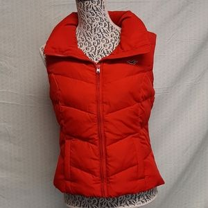 Red Hollister puffer vest